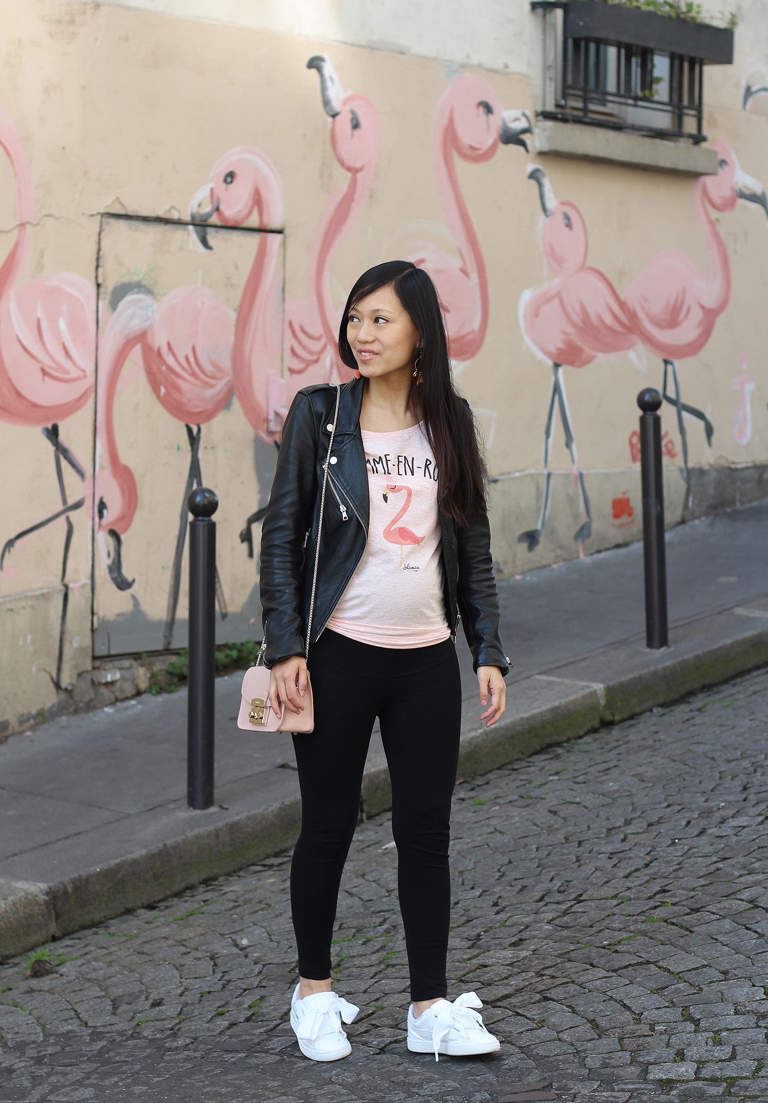 Petite and So What - tee shirt Shaman Flemme-en-rose - look enceinte