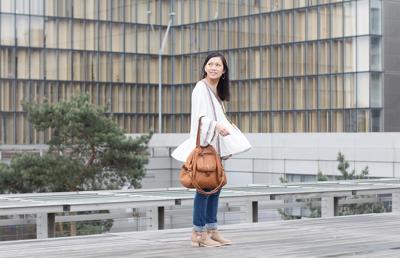 Petite and So What - tenue boheme - blouse Louizon Paris