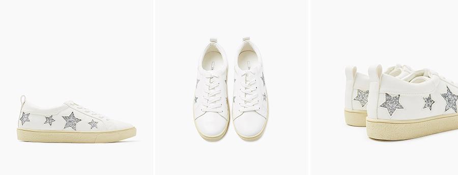 Petite and So What - baskets blanches étoiles scintillantes Esprit