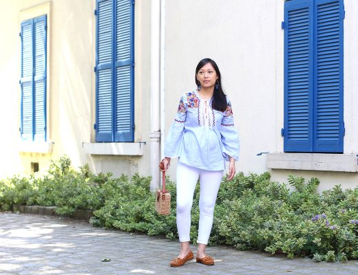 petite and so what - tenue ethnique - blouse brodee fleurs Zara 3