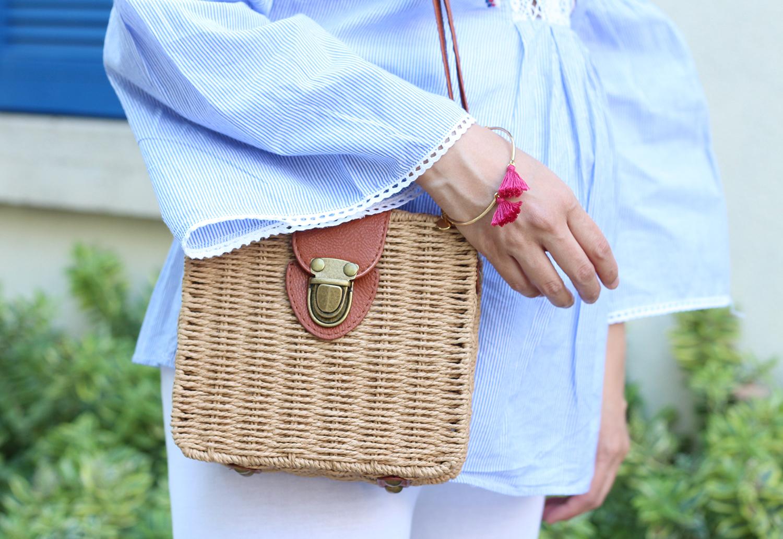 petite and so what - tenue ethnique - panier la redoute et bracelet mouton reveur