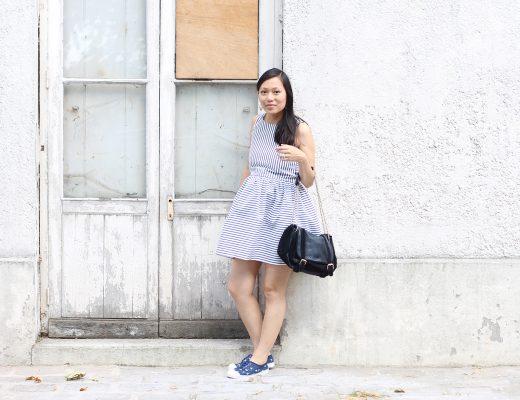 petite and so what - comme un air de vacances - robe rayee Zara kids