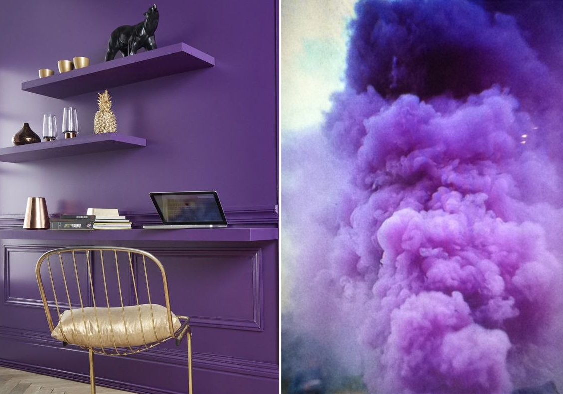 petite and so what - ultra violet pantone